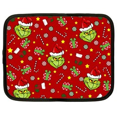 Grinch Pattern Netbook Case (large)