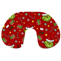 Grinch Pattern Travel Neck Pillows