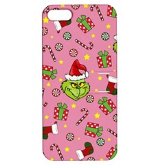 Grinch Pattern Apple Iphone 5 Hardshell Case With Stand