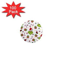 Grinch Pattern 1  Mini Magnets (100 Pack)