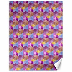 Hexagon Cube Bee Cell Pink Pattern Canvas 12  X 16