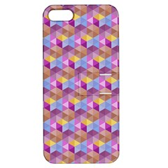 Hexagon Cube Bee Cell Pink Pattern Apple Iphone 5 Hardshell Case With Stand