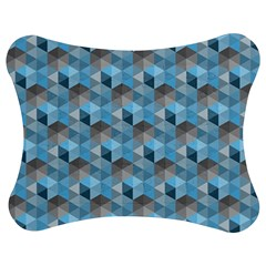 Hexagon Cube Bee Cell  Blue Pattern Jigsaw Puzzle Photo Stand (bow)