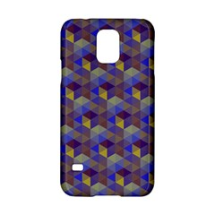 Hexagon Cube Bee Cell Purple Pattern Samsung Galaxy S5 Hardshell Case