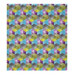 Hexagon Cube Bee Cell 1 Pattern Shower Curtain 66  X 72  (large)