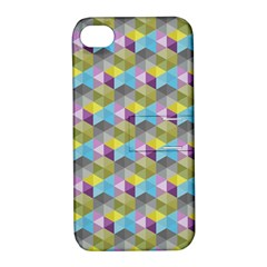 Hexagon Cube Bee Cell 1 Pattern Apple Iphone 4/4s Hardshell Case With Stand