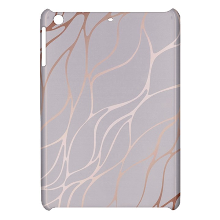 Rose gold, wave,beautiful,feminine,chic,elegant,metallic,modren,wedding,pink,trendy Apple iPad Mini Hardshell Case