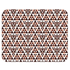 Snowflake With Crystal Shapes 2 Double Sided Flano Blanket (medium)