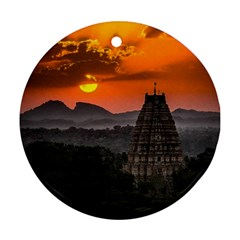 Beautiful Village Of Hampi Ornament (round)