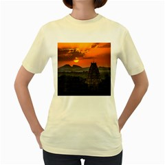 Beautiful Village Of Hampi Women s Yellow T Shirt