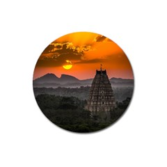 Beautiful Village Of Hampi Magnet 3  (round)