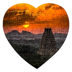 Beautiful Village Of Hampi Jigsaw Puzzle (heart)