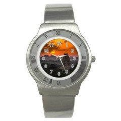 Beautiful Village Of Hampi Stainless Steel Watch