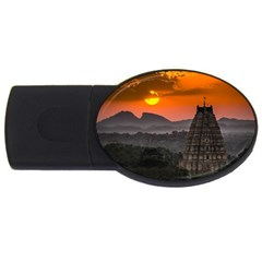 Beautiful Village Of Hampi Usb Flash Drive Oval (4 Gb)