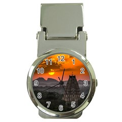 Beautiful Village Of Hampi Money Clip Watches
