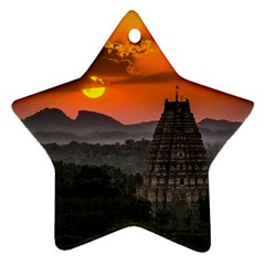 Beautiful Village Of Hampi Star Ornament (two Sides)