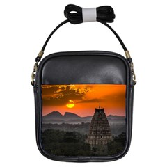 Beautiful Village Of Hampi Girls Sling Bags