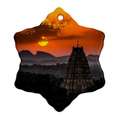 Beautiful Village Of Hampi Snowflake Ornament (two Sides)