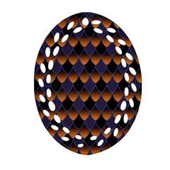 3squama Fhish Dark Ornament (oval Filigree)