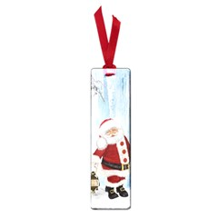 Santa Claus With Funny Penguin Small Book Marks