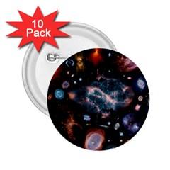 Galaxy Nebula 2 25  Buttons (10 Pack)
