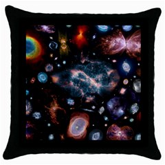 Galaxy Nebula Throw Pillow Case (black)