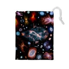 Galaxy Nebula Drawstring Pouches (large)