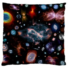 Galaxy Nebula Large Flano Cushion Case (two Sides)