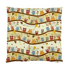 Autumn Owls Pattern Standard Cushion Case (one Side)