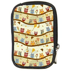 Autumn Owls Pattern Compact Camera Cases