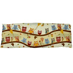 Autumn Owls Pattern Body Pillow Case (dakimakura)