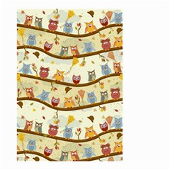 Autumn Owls Pattern Small Garden Flag (two Sides)