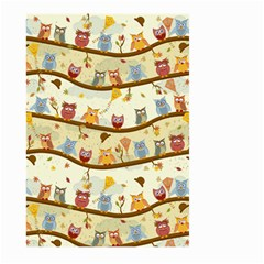 Autumn Owls Pattern Large Garden Flag (two Sides)