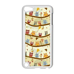 Autumn Owls Pattern Apple Ipod Touch 5 Case (white)