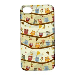 Autumn Owls Pattern Apple Iphone 4/4s Hardshell Case With Stand