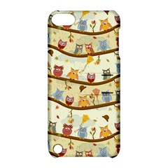 Autumn Owls Pattern Apple Ipod Touch 5 Hardshell Case With Stand