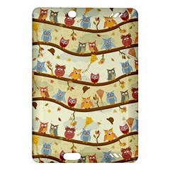 Autumn Owls Pattern Amazon Kindle Fire Hd (2013) Hardshell Case