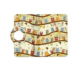 Autumn Owls Pattern Kindle Fire Hd (2013) Flip 360 Case