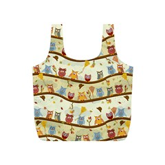 Autumn Owls Pattern Full Print Recycle Bags (s)
