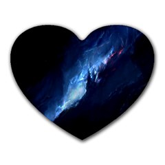 Nebula Heart Mousepads