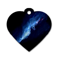 Nebula Dog Tag Heart (two Sides)