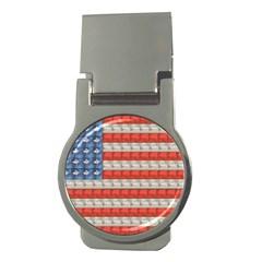 Geometricus Usa Flag Money Clips (round)