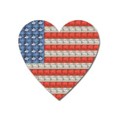 Geometricus Usa Flag Heart Magnet
