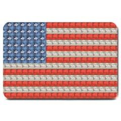 Geometricus Usa Flag Large Doormat