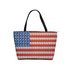 Geometricus Usa Flag Shoulder Handbags
