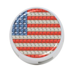 Geometricus Usa Flag 4 Port Usb Hub (one Side)