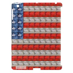 Geometricus Usa Flag Apple Ipad 3/4 Hardshell Case (compatible With Smart Cover)