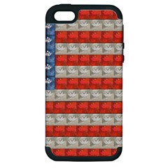 Geometricus Usa Flag Apple Iphone 5 Hardshell Case (pc+silicone)