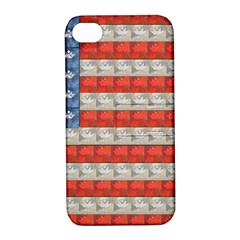 Geometricus Usa Flag Apple Iphone 4/4s Hardshell Case With Stand