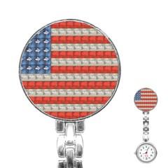 Geometricus Usa Flag Stainless Steel Nurses Watch